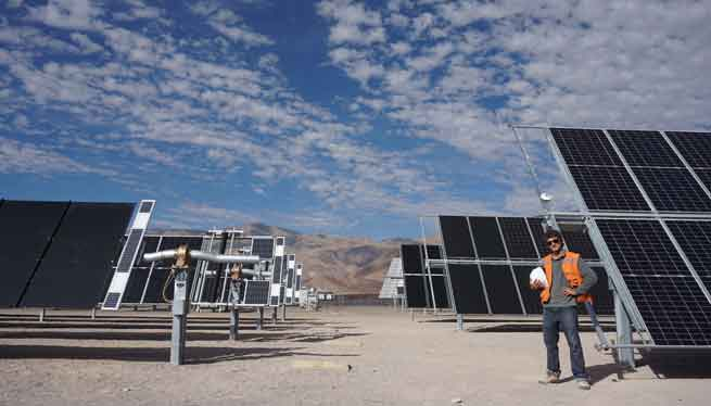 Solar Expert In A Solar Parc In Chile
